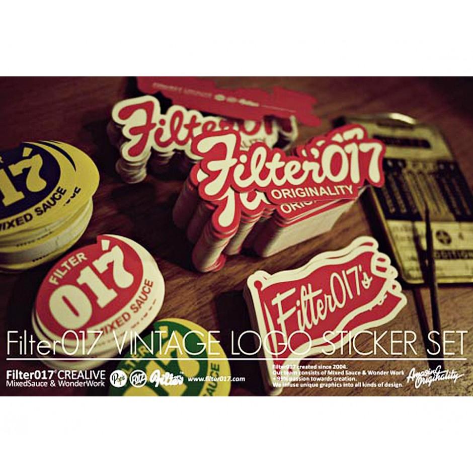 Filter017 Vintage Logo Sticker Set