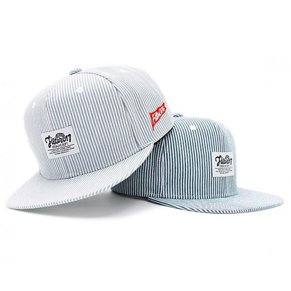 Stripe Denim Snapback CAP